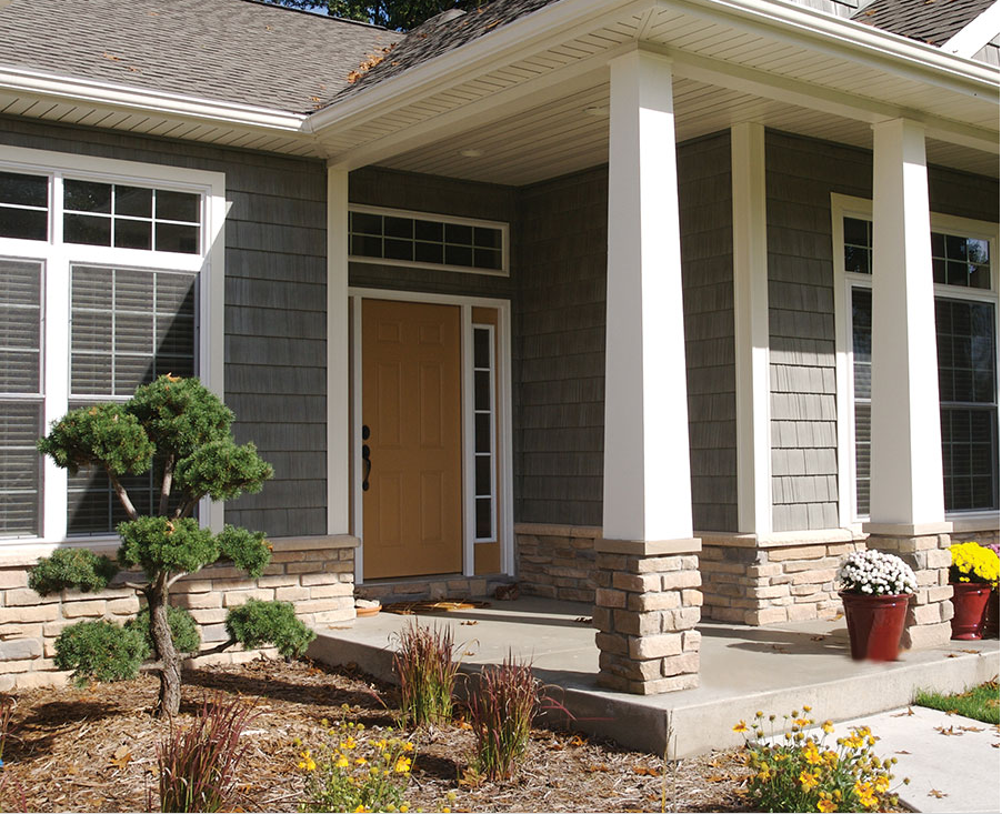 An exterior upgrade to brag about united building materials for Exterior building products